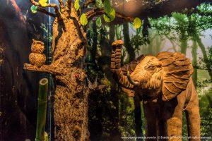 Escultura de chocolate no Mundo de Chocolate Lugano