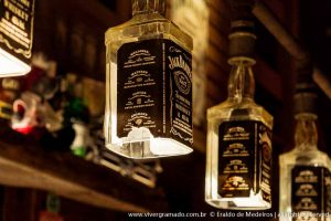 Luminária de garrafa wisk jack daniels